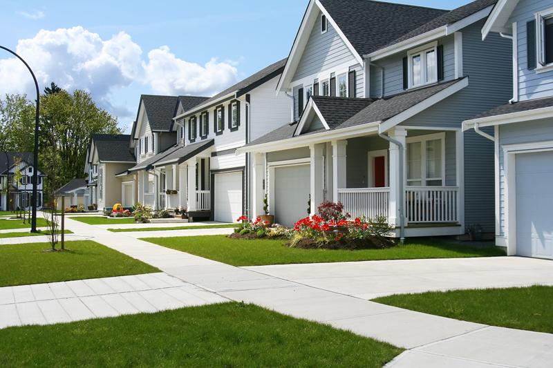 House and sidewalks